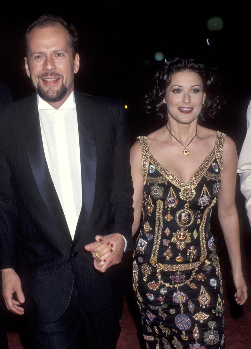 1993年に撮影されたブルースとデミ。Photo:Getty Images