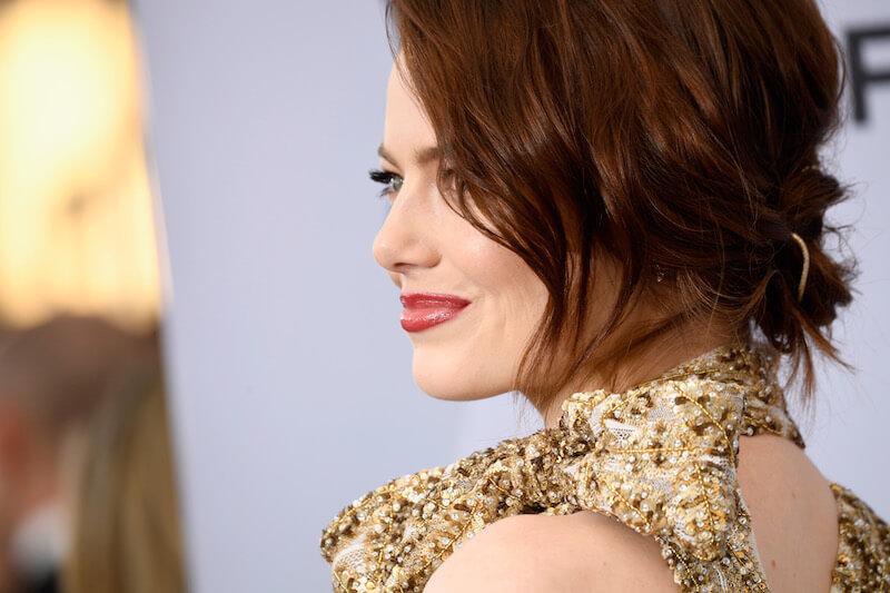 第25回全米映画俳優組合(SAG)アワードの授賞式に出席したエマ・ストーン。