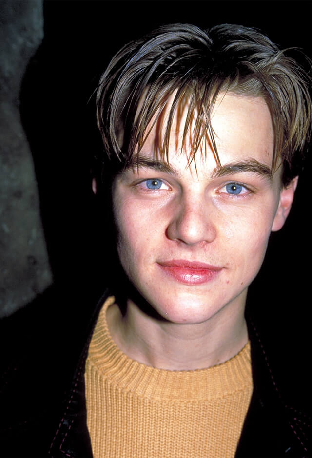 1994年、映画『レッドロック/裏切りの銃弾』のパーティでキャッチされた19歳のレオナルド・ディカプリオ。