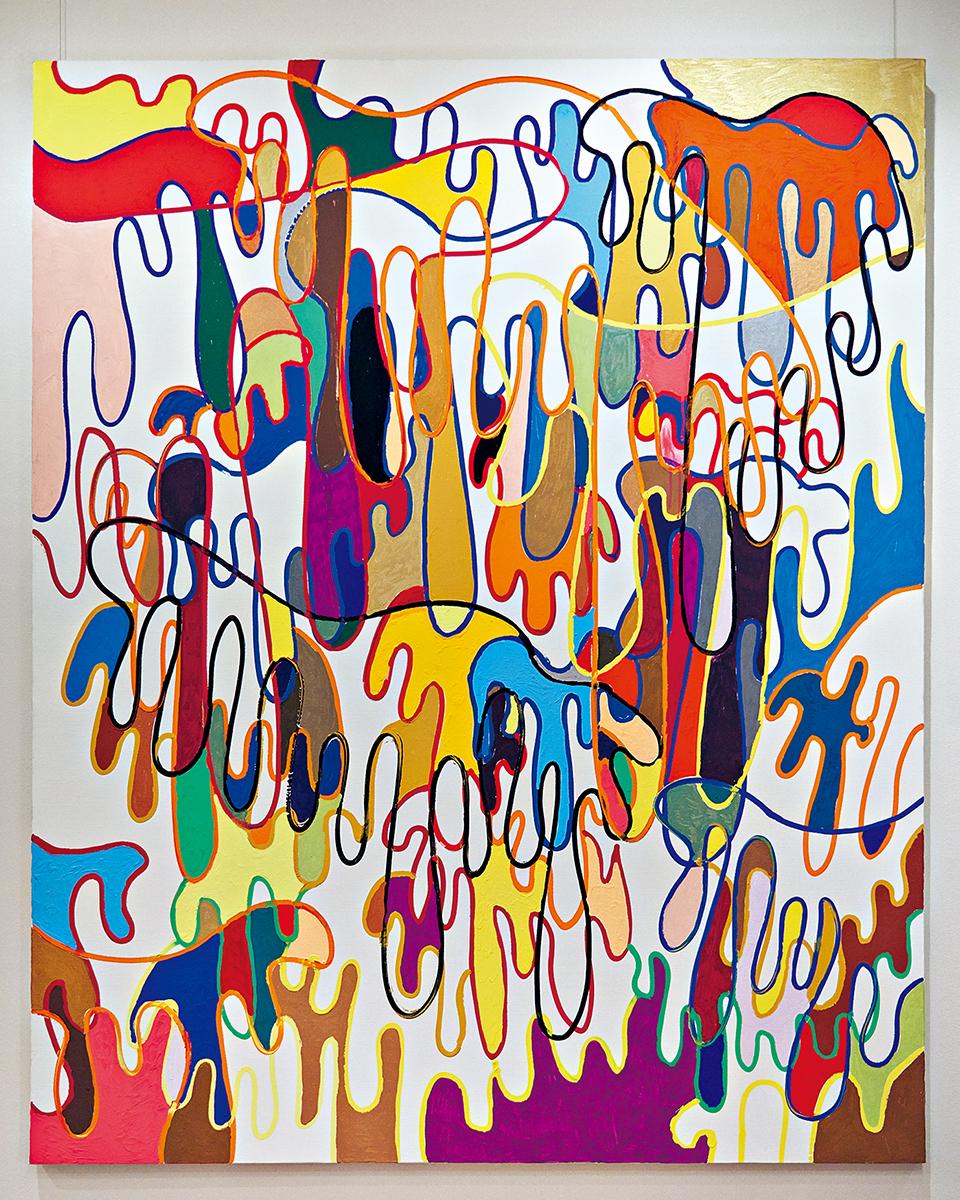 絵の具のしたたりを面白く感じたところから 増殖していった作品 © SHINGO KATORI