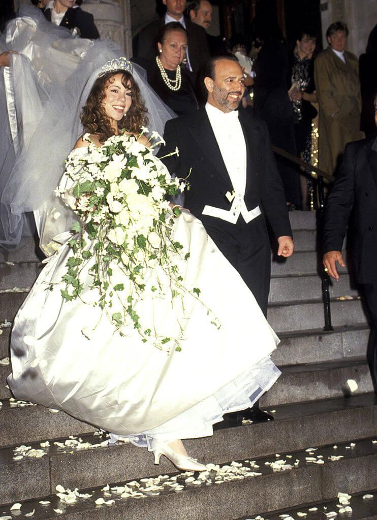 トミー・モトーラと1993年6月に結婚したマライア・キャリー。