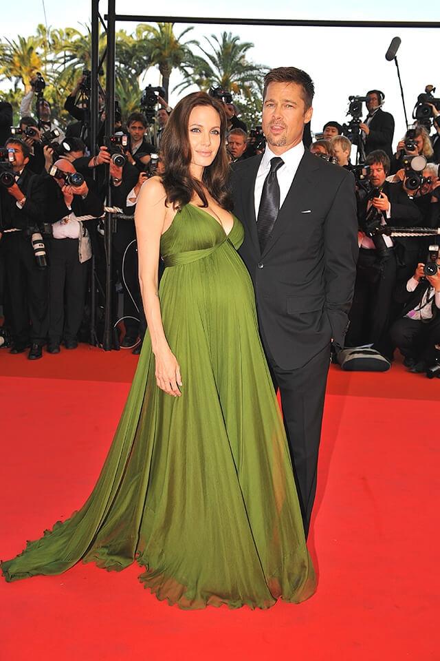 2008年の第61回カンヌ映画祭に出席したアンジェリーナ・ジョリーと当時のパートナー、ブラッド・ピット。