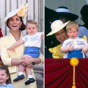 初公務はヘンリー王子のおさがり! 33年前を再現したルイ王子&キャサリン妃の親子ルックが話題に