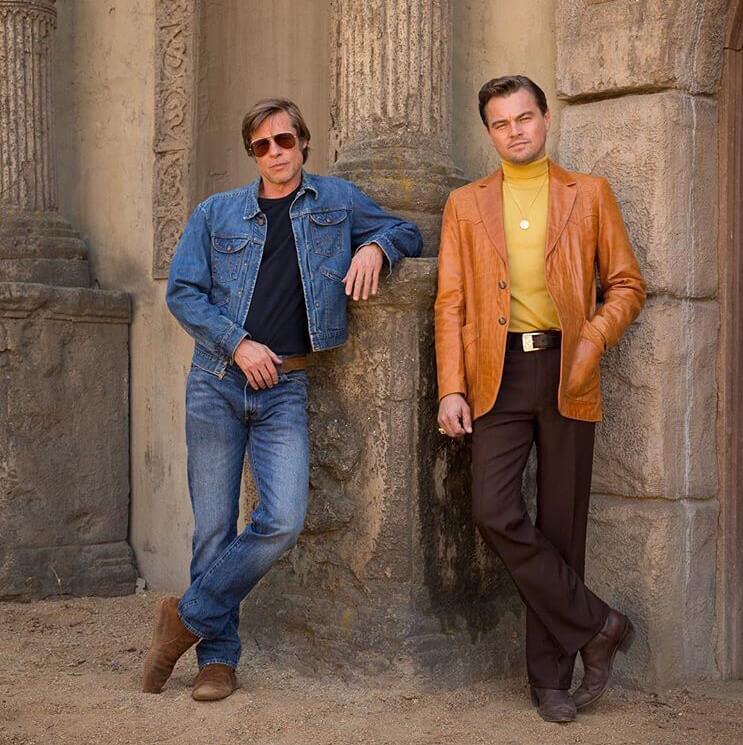 クエンティン・タランティーノ監督作『ワンス・アポン・ア・タイム・イン・ハリウッド』で初共演を果たしたレオナルド・ディカプリオとブラッド・ピット。