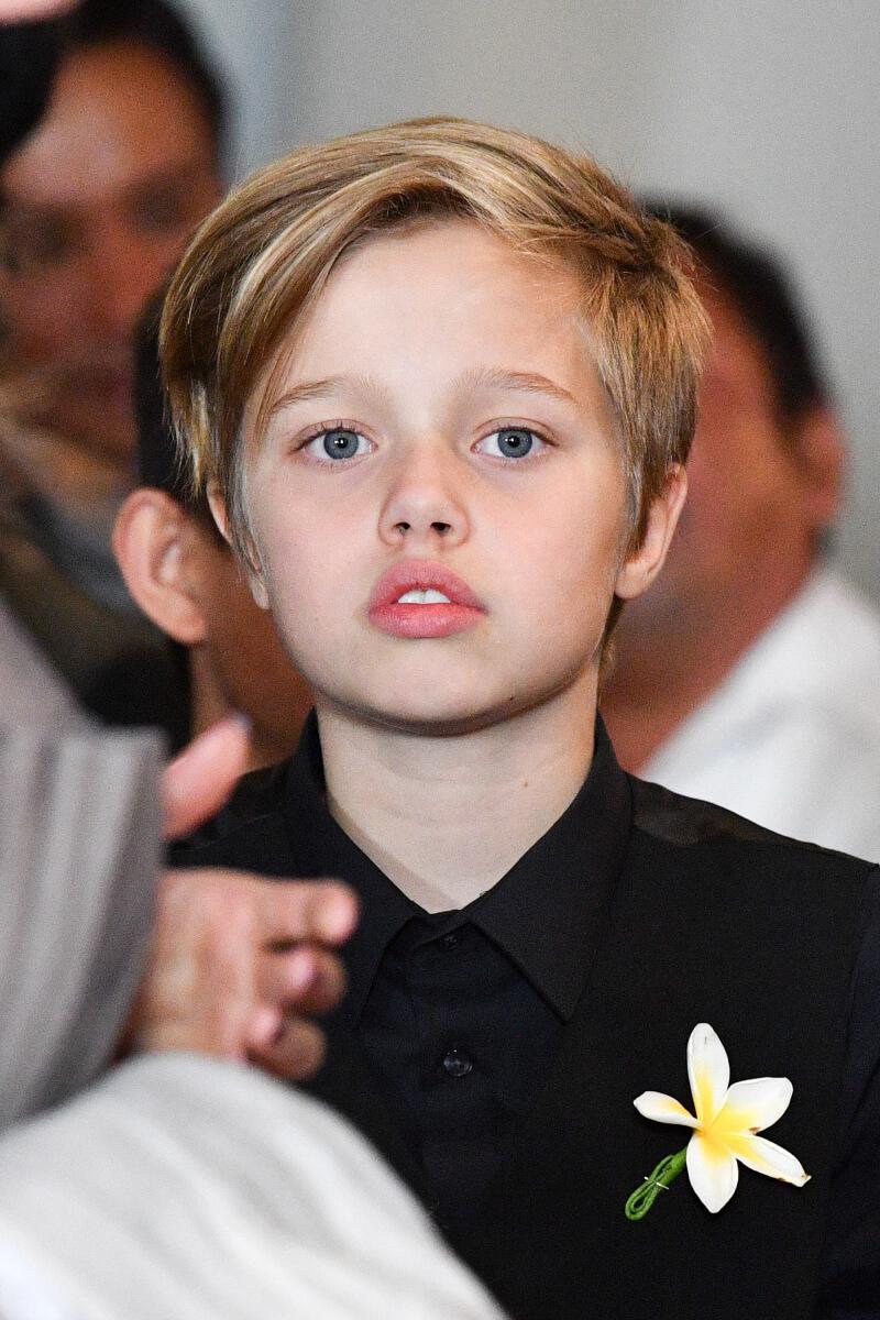 アンジェリーナ・ジョリーとブラッド・ピットの第一子として2006年に誕生したシャイロ・ヌーベルちゃん。