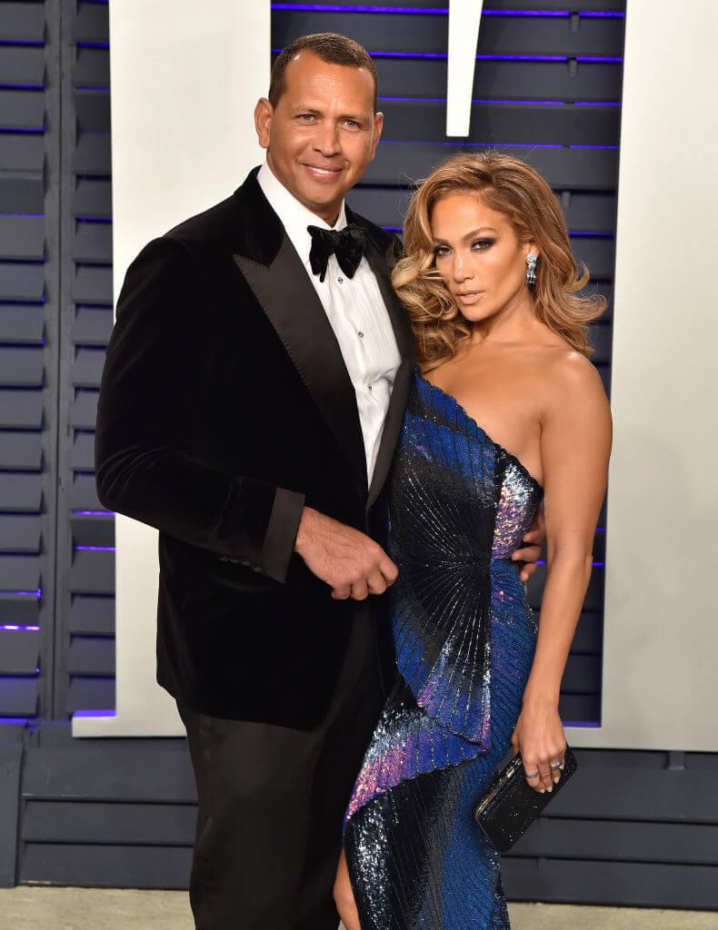 2017年から交際開始し、2019年3月に婚約を発表した、元メジャーリーガーのアレックス・ロドリゲスとジェニファー・ロペス。