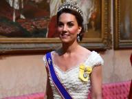キャサリン妃の由緒あるティアラ姿、ふたたび! 真っ白なドレスでトランプ米大統領とのディナーへ