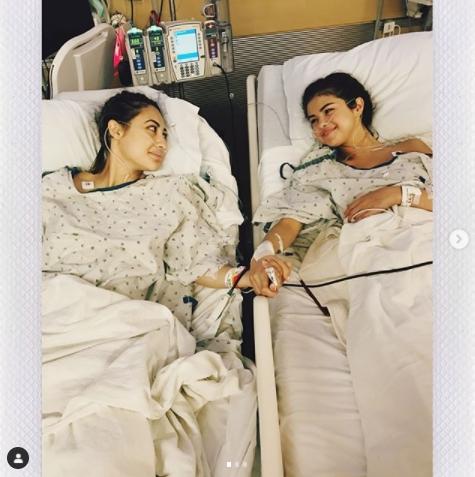 2017年夏頃、肝臓移植手術を受けたセレーナ。