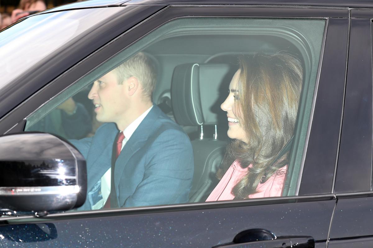 車でランチ会に向かうウィリアム王子一家。Photo:Getty Images