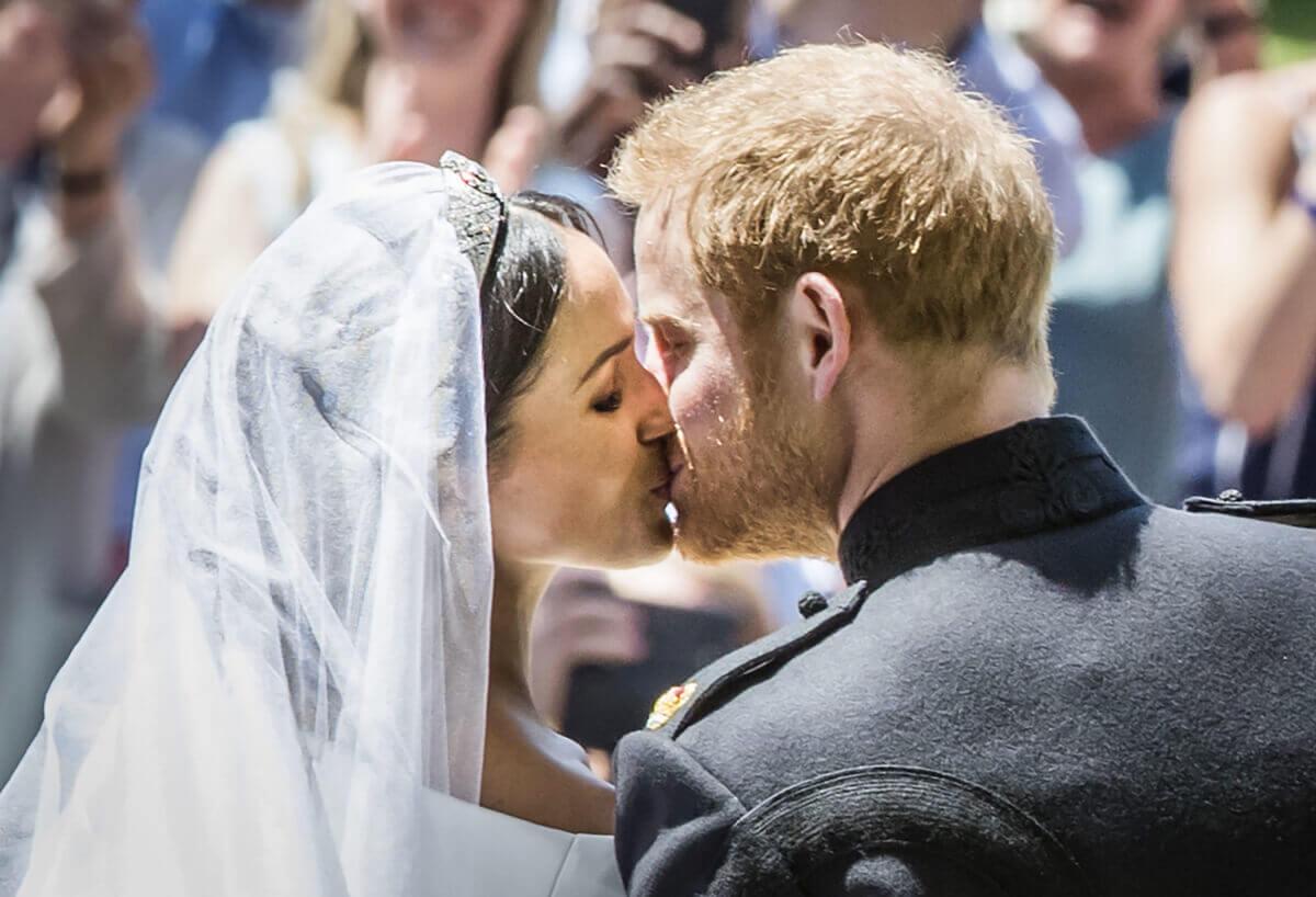 2018年5月19日、ロンドン郊外ウィンザー城のセント・ジョージ礼拝堂で結婚式を挙げたメーガン妃。