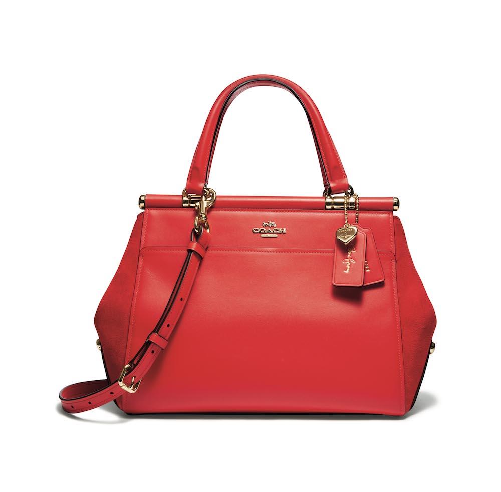 バッグ「Selena Grace」¥64,000  (レッド、ホワイト、ブラックチェリーの3色展開)