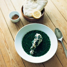 モロヘイヤチキンスープ - 今月のスープ | vol. 04