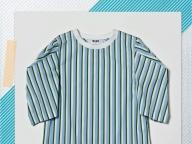 一枚でモードが叶うエムエスジーエムの変形袖Tシャツ