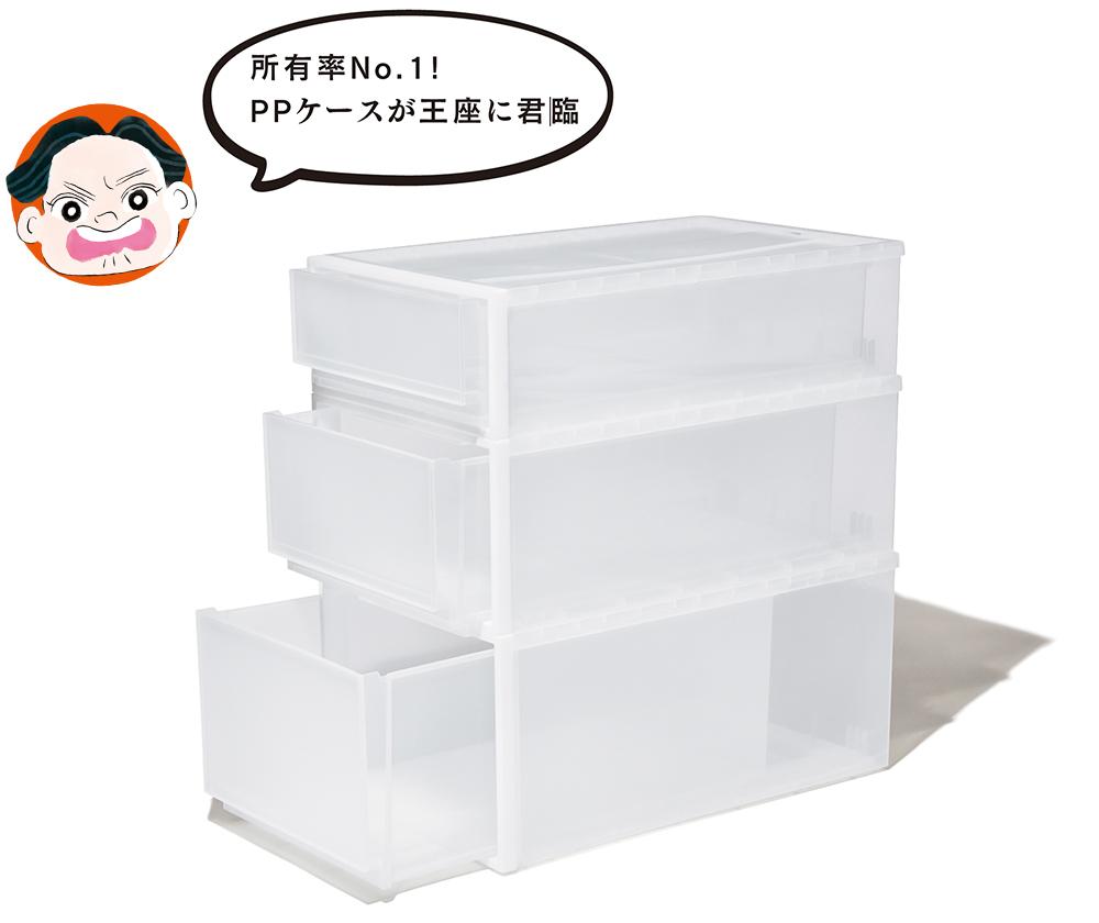 ①無印良品/ポリプロピレン衣装ケース(スタイリスト・小川夢乃さん)