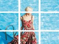 ドルチェ&ガッバーナのローズプリントドレス
