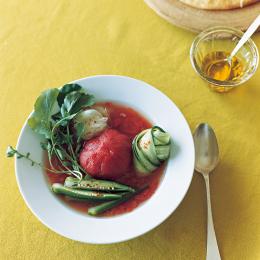 トマトと野菜の冷製スープ - 今月のスープ | vol. 05