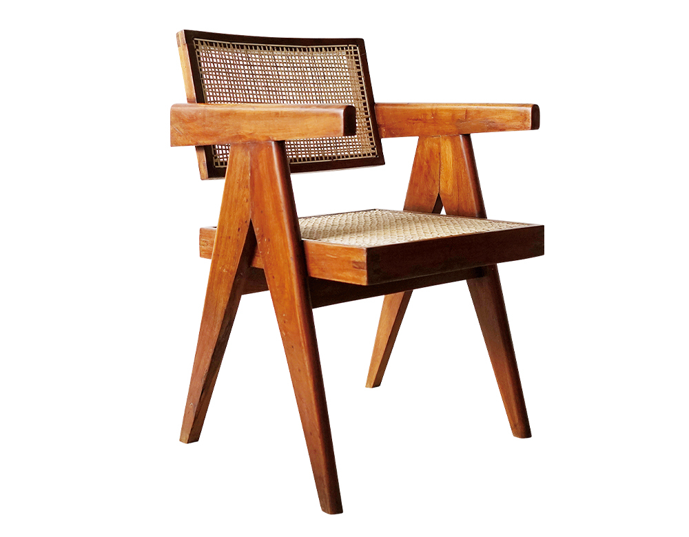 07 Pierre Jeanneret の『Office Cane Chair』