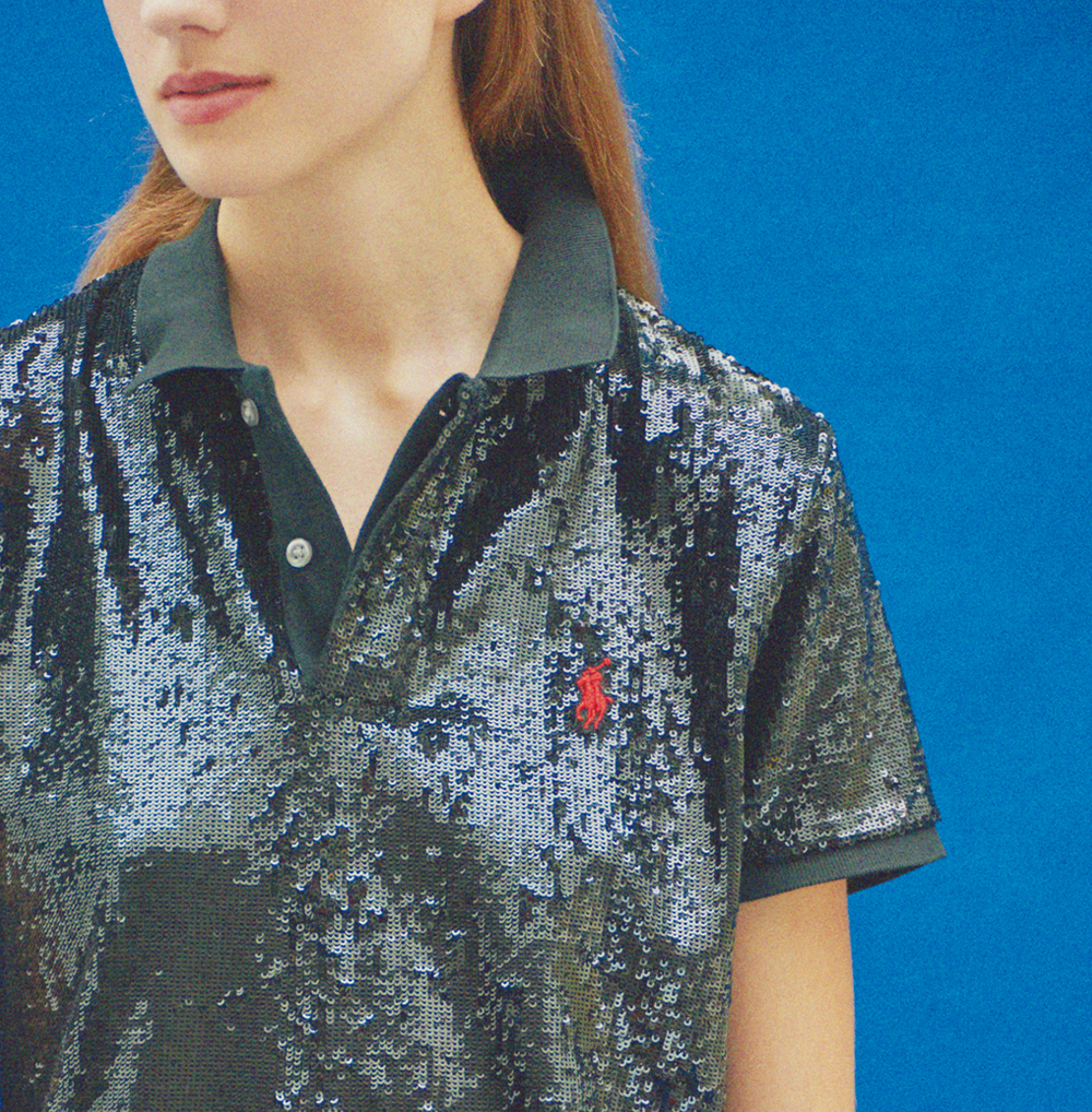 03:ポロ ラルフ ローレンのスパンコールポロシャツが新しい