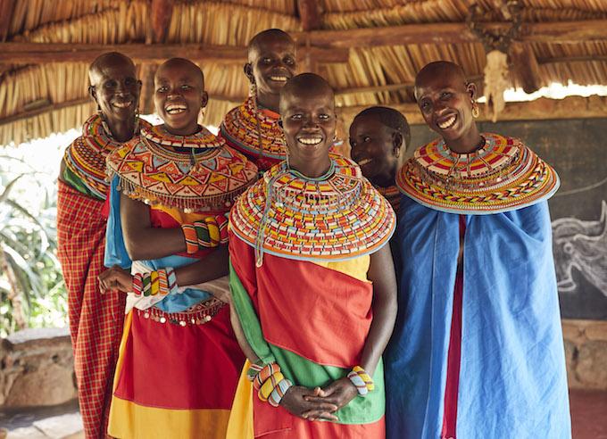 ザンブル族の女性たち