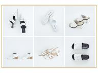 清廉な白い靴が足もとから春を呼ぶ