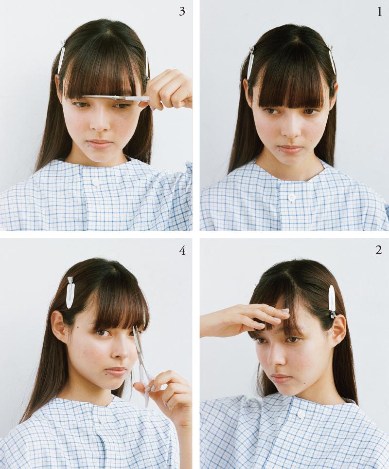yuki 雪丸さんが伝授。伸びた前髪を自宅でカットする方法