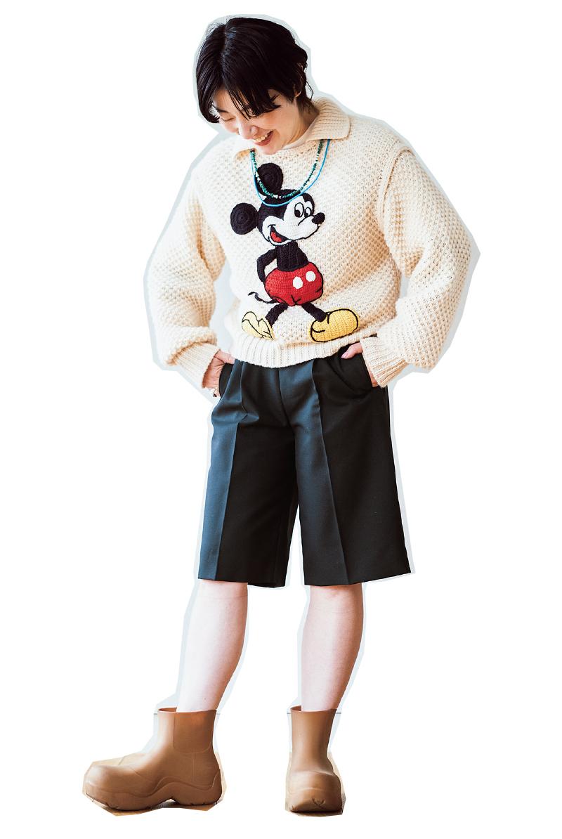 day 7 / 子どもウケNo.1。ミッキーマウスのセーター