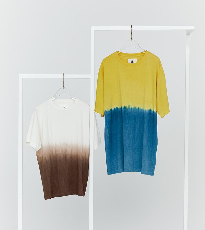 和紙と泥染めと天然の染料。大地のパワーをTシャツに込めて