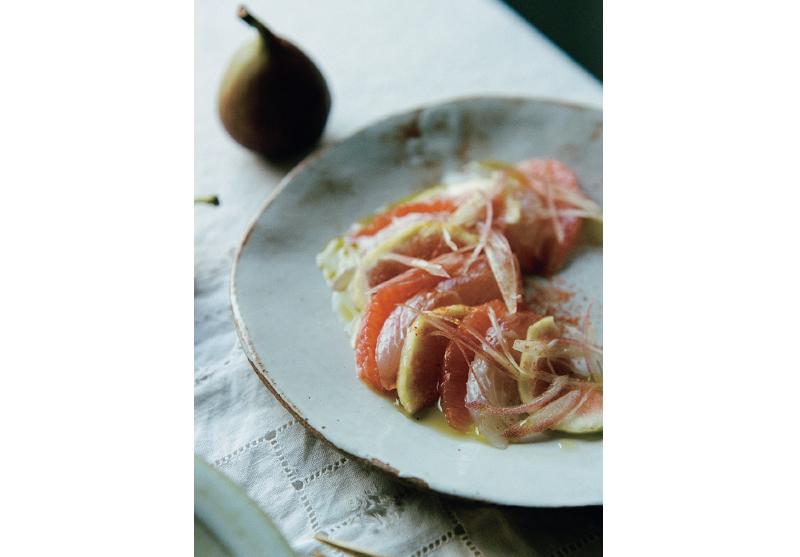 煎茶×ジンには…③真鯛、いちじく、グレープフルーツのカルパッチョ