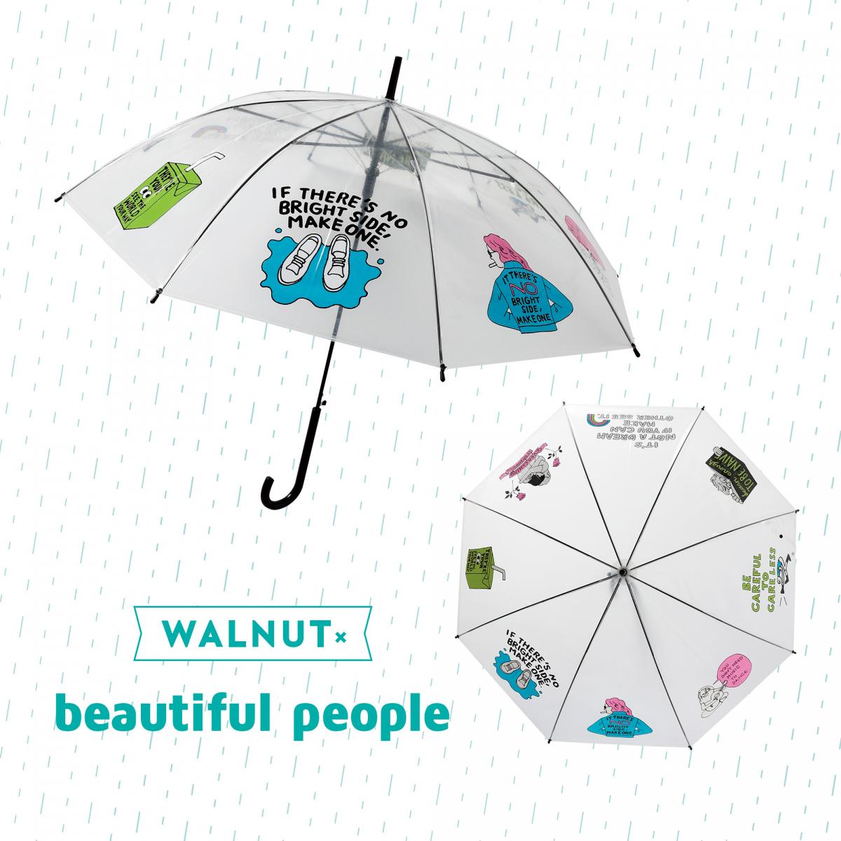 人気イラストレーターwalnut人気ブランドのスペシャルコラボ傘