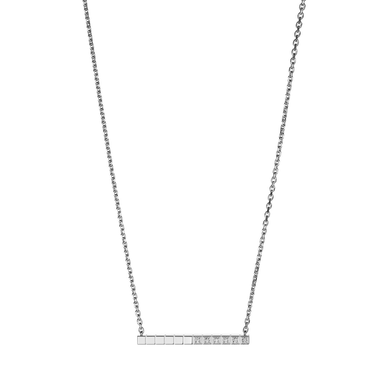"""""""アイスキューブ ピュア"""" ネックレス〈フェアマインド認定18KWG、ダイヤモンド〉¥280,000"""