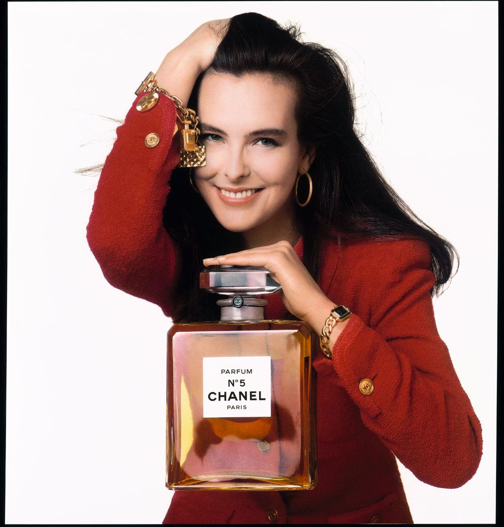 1989年に発表された、モデルのキャロル ブーケを起用した「」のキャンペーン。Photo courtesy of brand