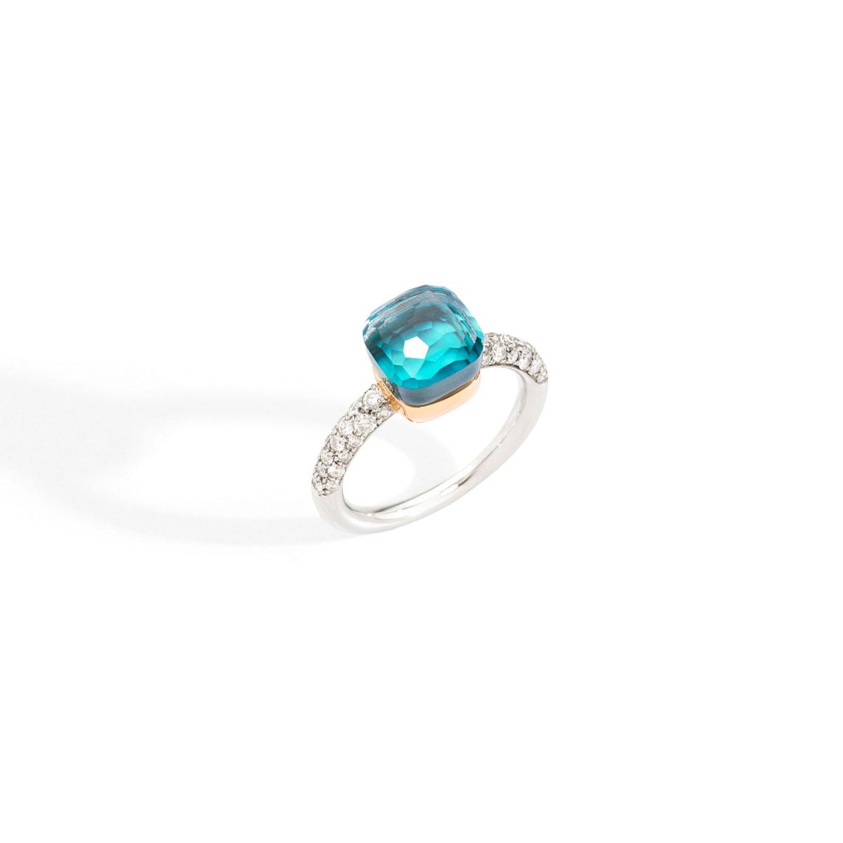 リング〈WG、RG、ロンドンブルートパーズ、ダイヤモンド〉¥430,000