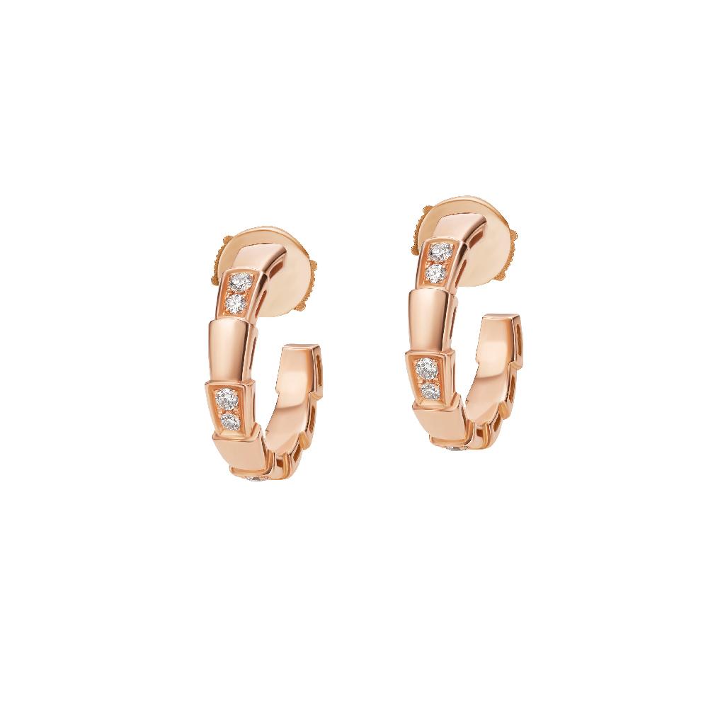 """""""セルペンティ ヴァイパー""""イヤリング〈ピンクゴールド、ダイヤモンド〉¥350,000"""