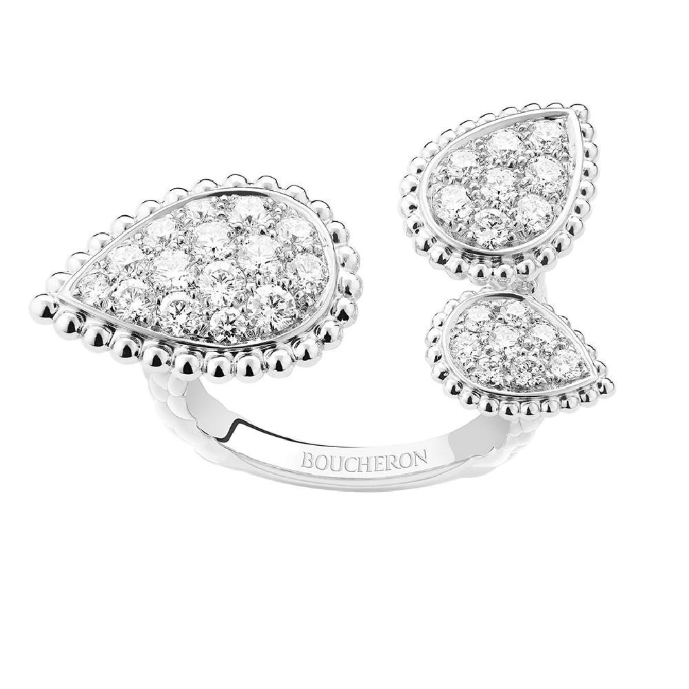 """""""セルパンボエム""""リング〈WG、ダイヤモンド〉¥1,770,000"""