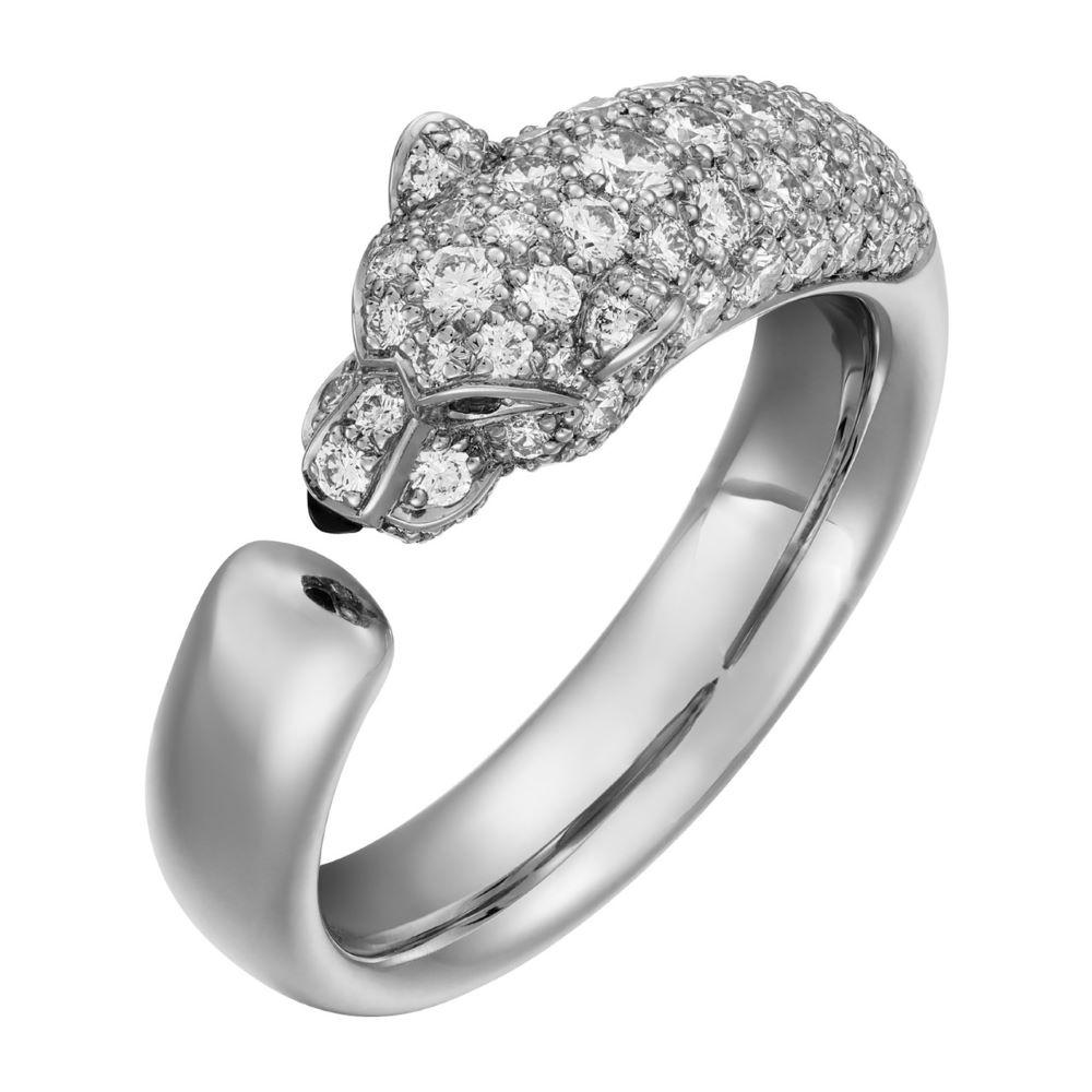 """""""パンテール ドゥ カルティエ""""リング〈WG、ダイヤモンド、エメラルド、オニキス〉¥1,116,000"""