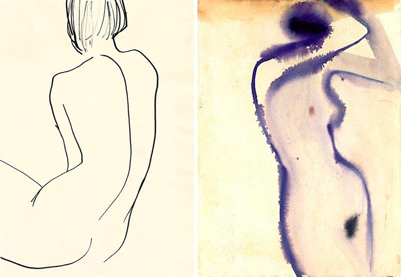 インクドローイングを、異なる工程で表現した作品。Images courtesy of artist