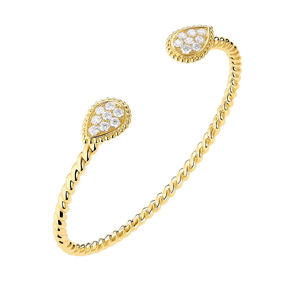 """""""セルパンボエム""""ブレスレット〈YG、ダイヤモンド〉¥1,060,000"""