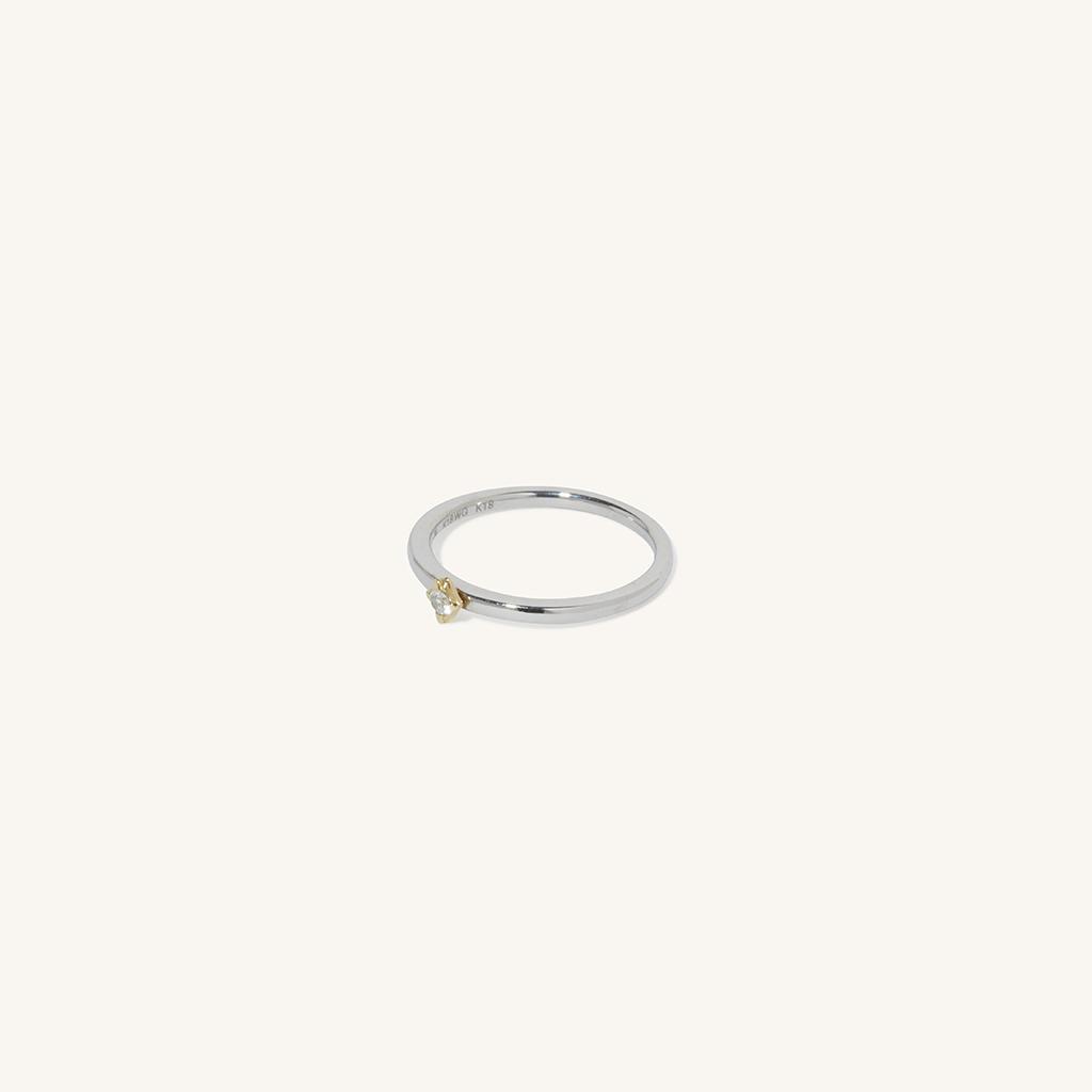 「花火」リング〈K18YG、K18WG、ダイヤモンド〉¥88,000