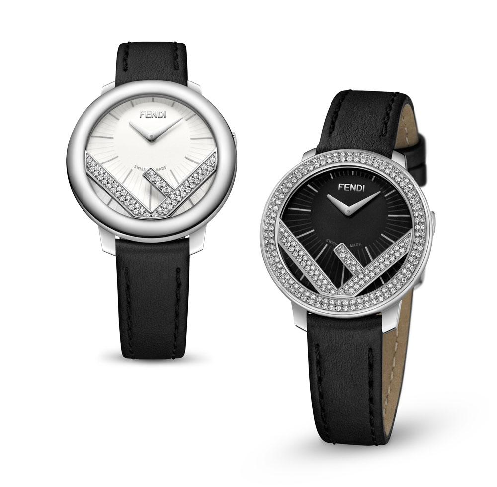 <左>「ラナウェイ ダイヤモンド」ウォッチ(SS×ダイヤモンド カーフレザーストラップ)¥220,000 <右>「ラナウェイ ダイヤモンド」ウォッチ(SS×ダイヤモンド カーフレザーストラップ)¥410,000
