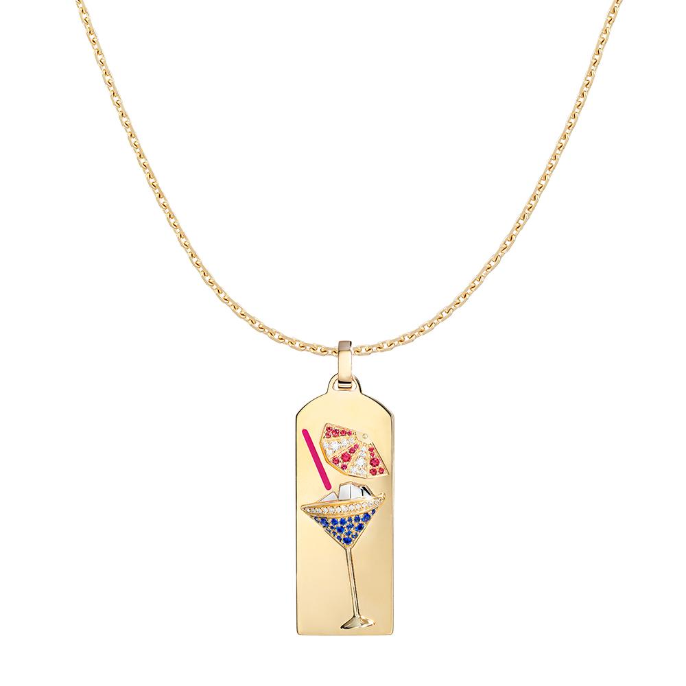「リビエラ ペンダント」限定カクテル〈WG、YG、ダイヤモンド、サファイア、ルビー〉¥1,067,000