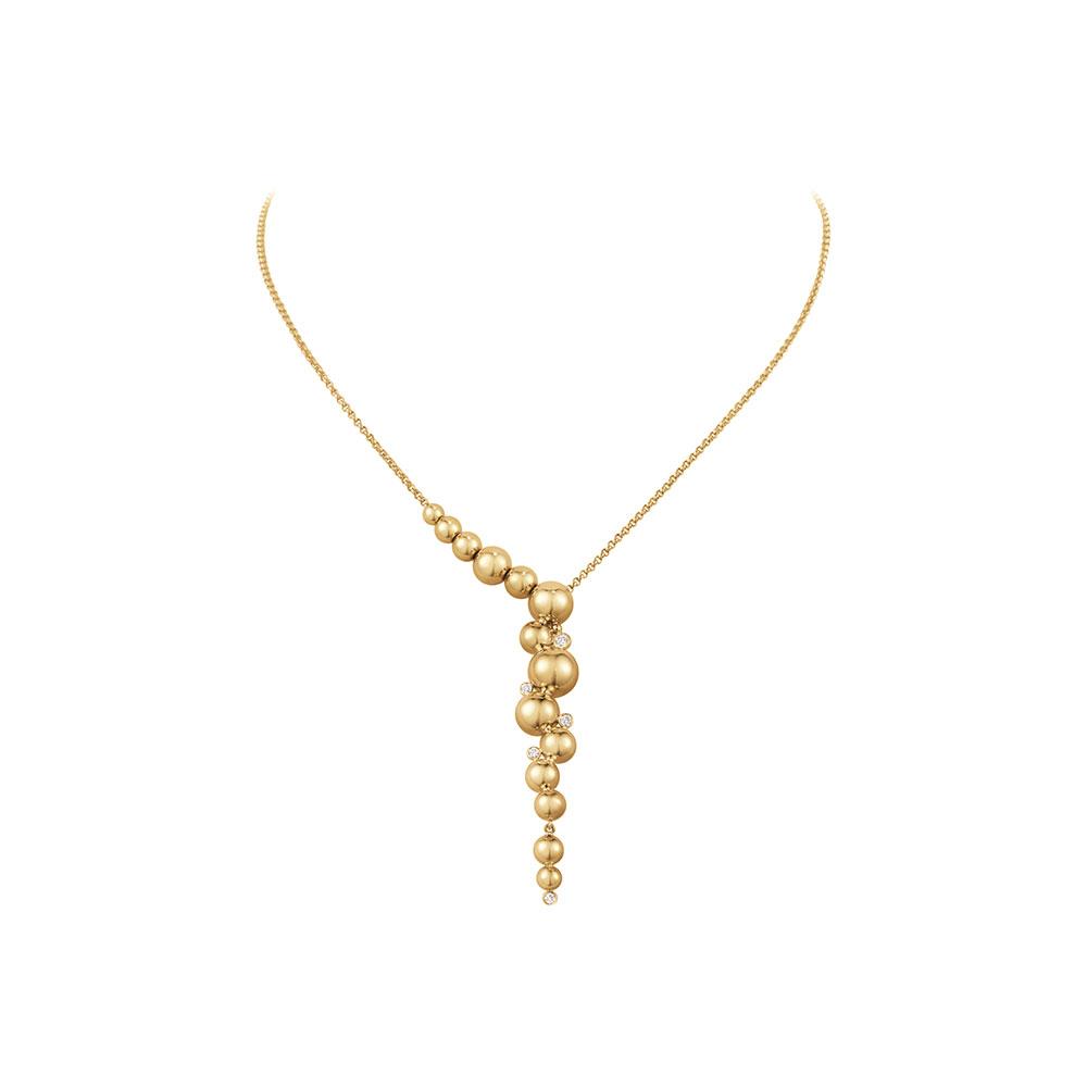「ムーンライト グレープ」ネックレス〈18KYG、ダイヤモンド〉¥396,000