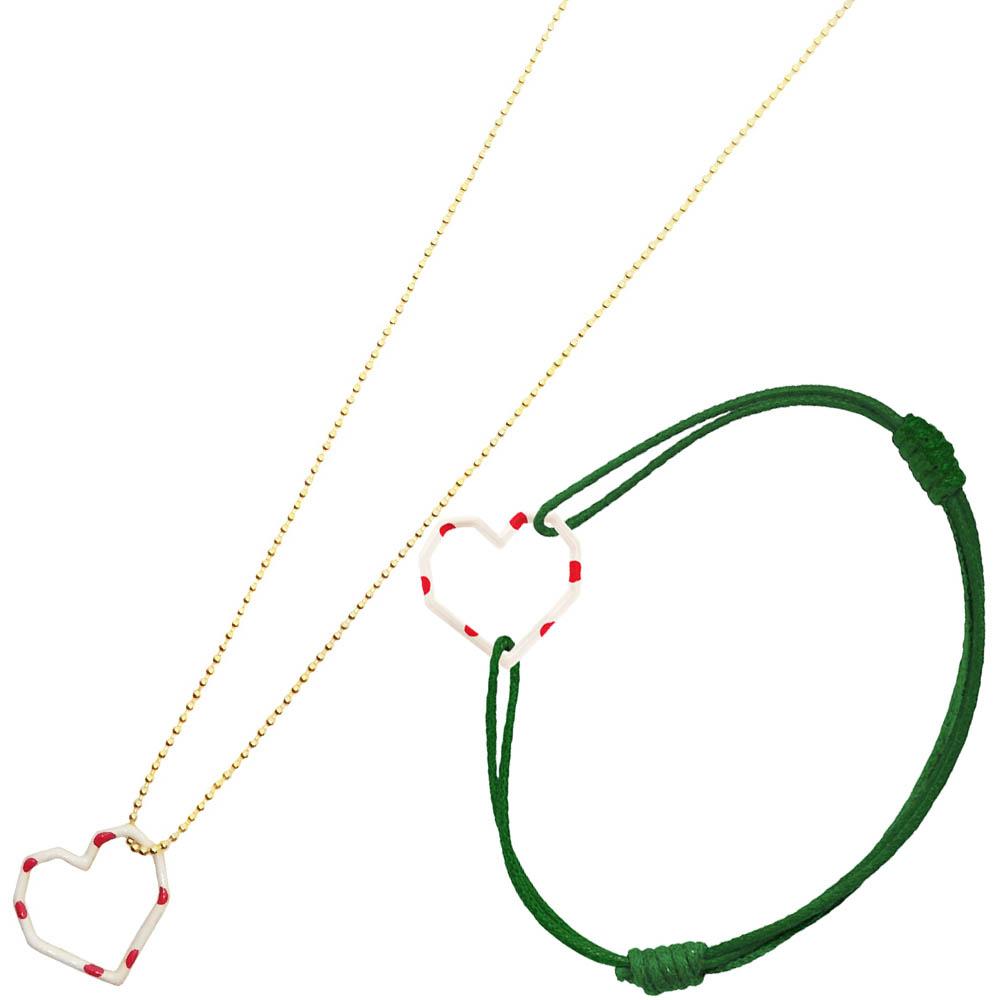 「コラゾン エナメル ネックレス」¥32,000、「コラゾン  エナメル コード ブレスレット」¥16,000