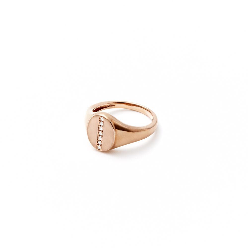 リング〈18KBG、ブラウンダイヤモンド〉¥156,000