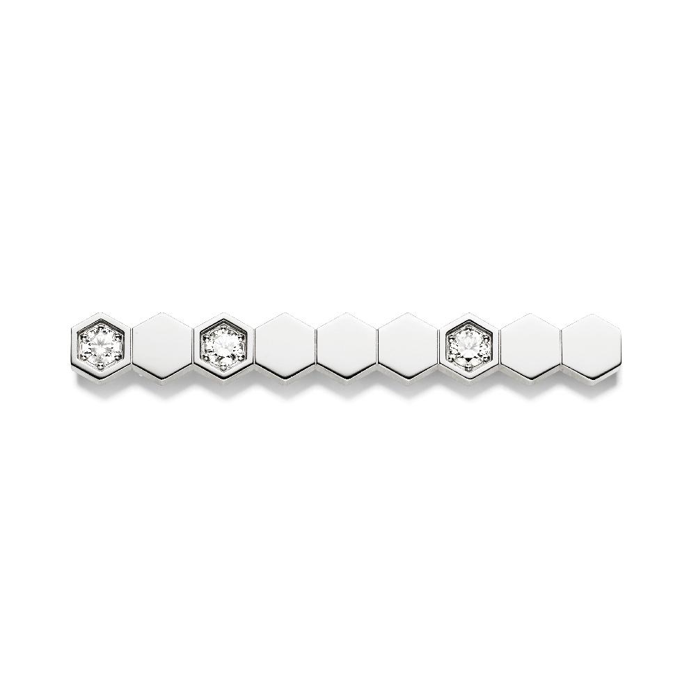 """""""ビー マイ ラブ""""ブローチ〈WG、ダイヤモンド〉¥310,000"""