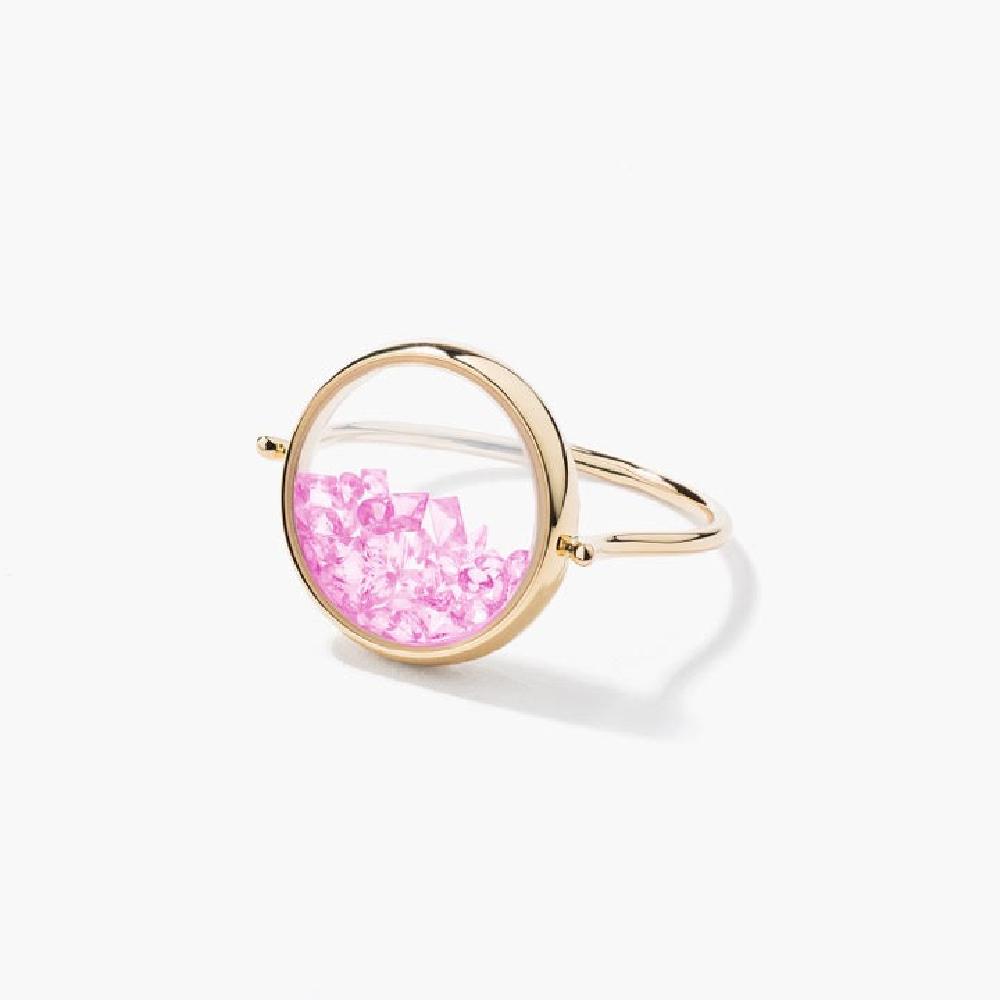 【オーレリー ビデルマン】遊び心溢れる、閉じ込められたピンクサファイア