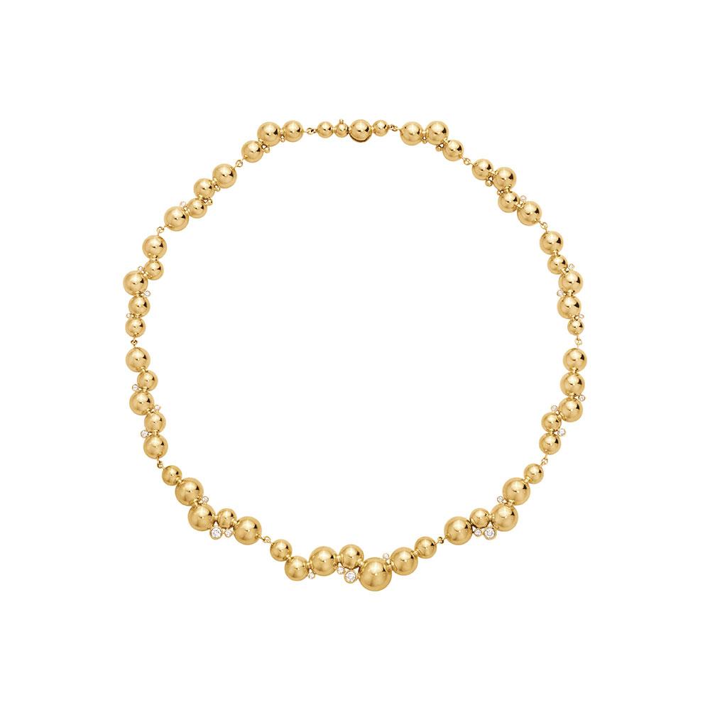 「ムーンライト グレープ」ネックレス〈18KYG、ダイヤモンド〉¥1,540,000