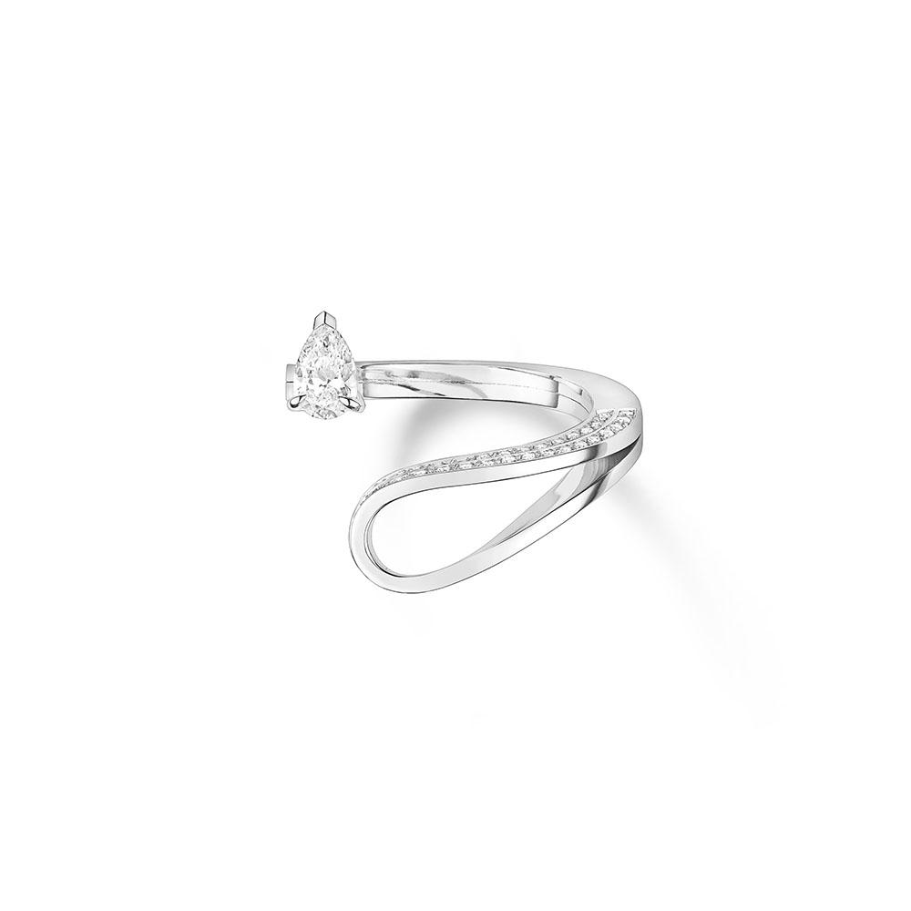 """""""セルティ・アンヴァーセ""""リング〈WG、ダイヤモンド〉¥894,000"""