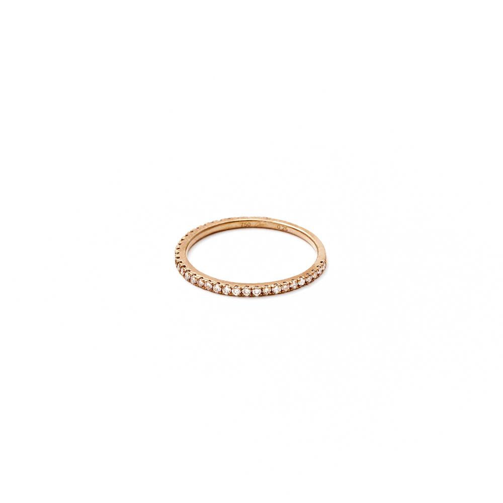 リング〈18KBG、ブラウンダイヤモンド〉¥159,000