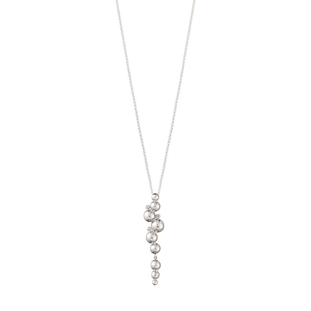 「ムーンライト グレープ」ロングペンダント〈18KWG、ダイヤモンド〉¥264,000