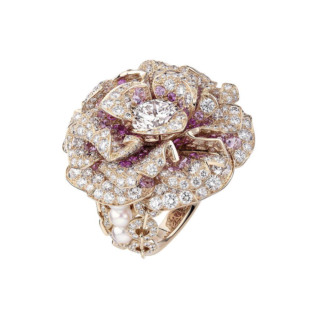 リング〈PG、ダイヤモンド、ピンクサファイア、あこや真珠〉¥価格